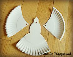 paper plate dove