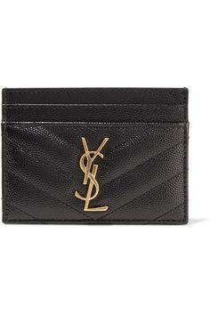 98d6ffeea22 SAINT LAURENT Quilted Textured-Leather Cardholder.  saintlaurent  wallets  Saint Laurent Card Holder