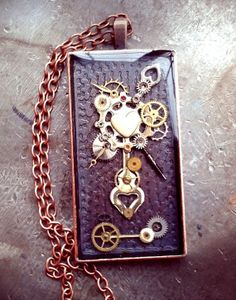 New piece! Yay! Steampunk Bouquet Pendant by ColdGarageCreations on Etsy, $32.00