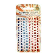 Vintage Circus Adhesive Pearls 1