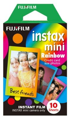 Fujifilm Instax Mini Rainbow Instant Film, 10 Photos/Pack (Rainbow):Amazon:Camera & Photo