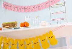 Peeps bunny bunting.  FREE pdf pattern download...and part of the Heart-FELT Holidays book giveaway
