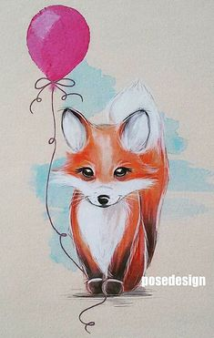 Fox Drawing, Fox Illustration, Cute Drawings, Animal Drawings, Art Day, Cute Art, Foxes, Fox Tattoo, Sweet Picture