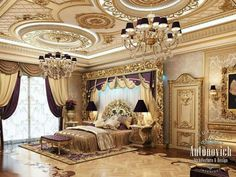 Opulent luxurious master bedroom. Spectacular!