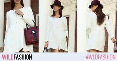Adauga un strop de glam tinutelor tale: poarta acest palton alb, deosebit de elegant! White Dress, Spandex, Coat, Floral, Dresses, Fashion, Embroidery, Vestidos, Moda