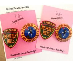 Troop Beverly Hills Pins by QueenBeansJewelry on Etsy