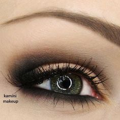 MAKEUP3By Kinga C - Peach, light and dark brown eyeshadow colors are used to create this smokey eye. DIY this neutral eye makeup for a stunning bridal look with this palette here.