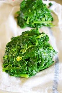 How to freeze fresh greens - great to know since we have a garden and we love frequenting Farmer's Markets!