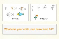 Draw Fish and Flower from alphabet F