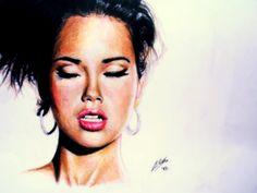 ADRIANA LIMA - Speed Painting: http://www.youtube.com/watch?v=d3BwUHQ0620