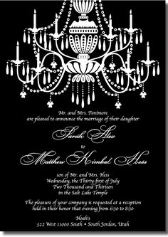 The chandelier is extravagant! Affordable Wedding Invitations, Beautiful Wedding Invitations, Elegant Invitations, Salt Lake Temple, Wedding Announcements, Thank You Cards, Marriage, Chandelier, Inspiration