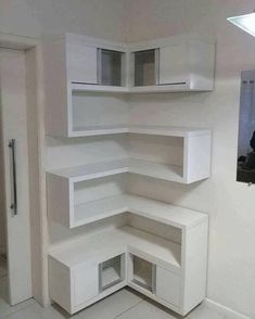 Sensational Design of DIY Corner Shelves to Beautify Your Best Home DIY shelves Do It Yourself Decoration, Floating Shelves Bathroom, Floating Storage Shelves, Floating Cabinets, Diy Regal, Diy Casa, Easy Home Decor, Wall Shelves, Bedroom Shelves