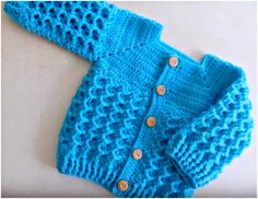Diamond Stitch Baby Jacket Crochet Tutorial - ilove-crochet