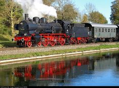 RailPictures.Net Photo: 38 3156 Deutsche Bundesbahn Steam 4-6-0 at Between Garching and Hörpolding, Germany by Daniel SIMON