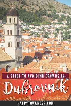 How to get away from the hordes of tourists in Dubrovnik and enjoy a relaxing vacay! A must-pin if you're visiting Dubrovnik. #Croatia #Travel