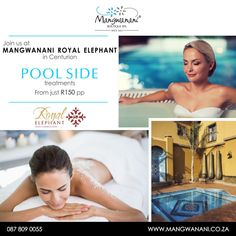 From November enjoy spa spoils at the serene surroundings of the pool area at the @ElephantRoyal in Eldoraigne, Centurion. Make it even more enjoyable & order a delicious cocktail from the bar and just relax. #BookNow! Call Mangwanani Royal Elephant on 012 658 8000. Boutique Spa, Just Relax, Serenity, November, Elephant, Cocktails, Bar, November Born, Craft Cocktails