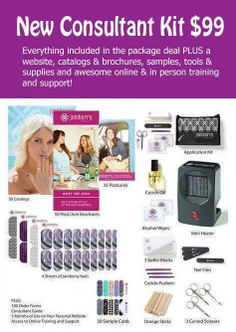 Want to be a Jamberry Consultant?  Check out all the great products included in your start up kit.  Everything you need for a successful Jamberry Business.  Contact me today! https://www.facebook.com/groups/jencasey/ http://jencasey.jamberrynails.net
