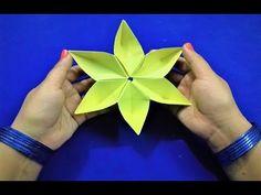 Origami sakura flower - DIY -  Easy Origami - YouTube