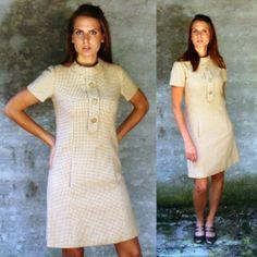 Unbelievable PURE CASHMERE vintage 1950s 1960s Wiggle Shift Dress   www.nesteggvintage.etsy.com