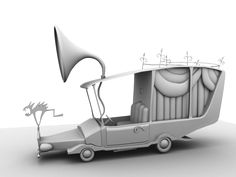 Ambient Occlusion of Mayors Hearse Model.