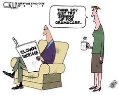 Editorial cartoon: Clown shortage | Like this one? Read more here: http://washingtonexaminer.com/opinion/editorial-cartoons