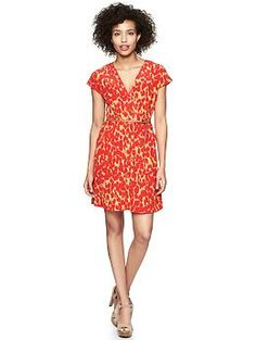 Gap's Printed Crossover Dress in Animal Print. $59.95