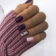 39 Trendy Fall Nails Art Designs Ideas To Look Autumnal & Charming - autumn nail art ideas fall nail art short nail art designs autumn nail colors dark nail designs coffin nails Dark Nail Designs, Latest Nail Designs, Fall Nail Art Designs, Pretty Nail Designs, Manicure, Gel Nails, Dark Nails, Nail Polish, Coffin Nails
