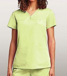 Grey's Anatomy 3 Pocket V-neck Top With Tonal Stitching 41340