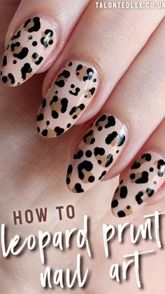 How to do leopard print nail art - a step by step nail art tutorial. Animal print manicure ideas - would you try this? # how to do nails TUTORIAL: Leopard print nail art Nail Art Designs Videos, Nail Art Videos, Easy Nail Polish Designs, Cute Easy Nail Designs, Latest Nail Designs, Makeup Videos, Purple Nail, Pink Nails, Hallographic Nails
