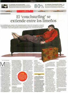El #couchsurfing se extiende entre los limeños. Entrevista sobre esta novedosa forma de turismo al Director del Observatorio Turístico del Perú (OTP), José Marsano. #otp #turismo #usmp #perú