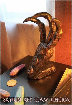 Hand-crafted Bronze Skyrim Claw Key Replica