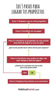 5 pasos para lograr todo lo que te propones.