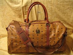 $498 MCM / Vintage / Boston Bag / Extra Large Duffle Bag 06789 / 100% authentic and World wide FREE shipping
