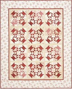 Use vintage reproduction fabrics to make this pretty Vintage Delight Basket Quilt. Although it uses basket quilt blocks, you may not notice right away, since the baskets are combined in larger blocks that give the quilt a more abstract feel. Lap Quilts, Scrappy Quilts, Quilt Blocks, Quilting Tutorials, Quilting Projects, Quilting Designs, Quilt Patterns Free, Free Pattern, Block Patterns