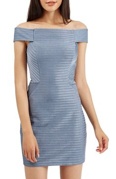 Topshop Off the Shoulder RibbedBody-Con Dress available at #Nordstrom