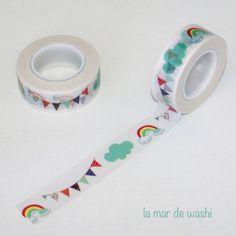 Washi Tape banderines y arcoiris                                                                                                                                                      More