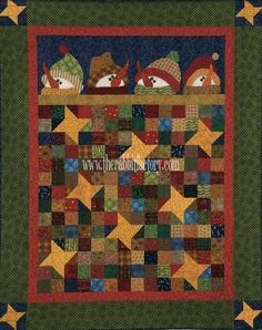 I love this quilt!! This one is definately on my todo list. It is from The Rabbit Factory. Under the Stars Snowmen TheRabbitFactory