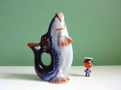 Midcentury Fish Vase Porcelain / Vintage große Fisch Vase Japan Porzellan 50er von ILoveSparrows auf DaWanda.com