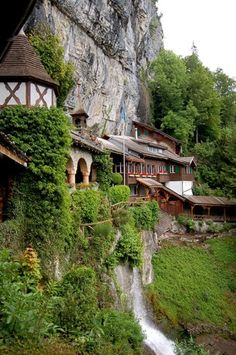 Entrance to St. Beatus Caves - Interlaken, Switzerland- so in other words... Rivendell.