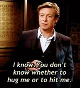 This gif sums him up perfectly I think <-- Didn't Lisbon hit him in this scene? XD