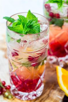 Use Your Noodles - Red Currant, Orange & Mint Mojitos