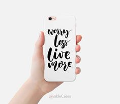 iPhone 6s case slim minimalist case quote by LovableCases on Etsy