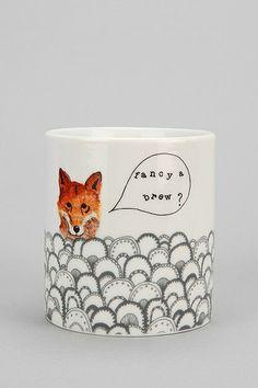 Fox Mug   Urban Outfitters