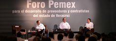 El gobernador de Veracruz, Javier Duarte de Ochoa asistióalForo Pemex para el Desarrollo de Proveedores y Contratistas del Estado de Veracruz.