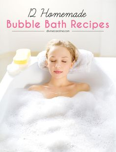 This recipe for Vanilla Bubble Bath comes from She Knows—and it only takes three ingredients! Stir together liquid body soap or castile soap, pure vegetable glycerin, and vanilla extract and pour into your running bath. Vanilla is a classic option, but don't be afraid to add a little cinnamon or nutmeg for more scent dimension. Pro tip: If you don't want to purchase special containers for your DIY bubble bath, rinse out your shampoo and conditioner bottles and those jars that exfoliating…
