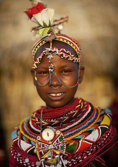 Africa | Rendille tribe girl - Kenya