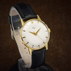 Your place to buy and sell all things handmade Gents Watches, Luxury Dress, Mechanical Watch, Watch Case, Omega Watch, Black Leather, Jewels, Stuff To Buy, Men