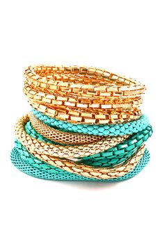 Turquoise Adette Bracelet Set | Awesome Selection of Chic Fashion Jewelry | Emma Stine Limited