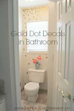The NapTime Reviewer: Update a Small Bathroom with Gold Dot Wall Decals