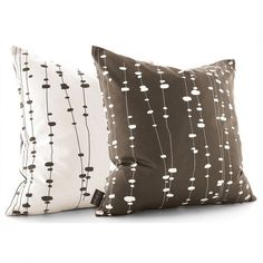 Inhabit Pussy Willows Throw Pillow in Chocolate - PUSC